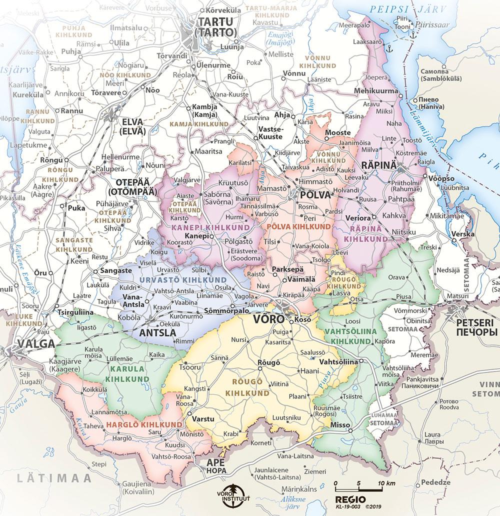 Vana-Võrumaa kaart